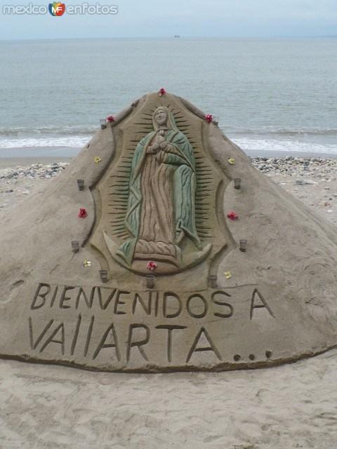 Esculturas de arena en el Malecón de Puerto Vallarta